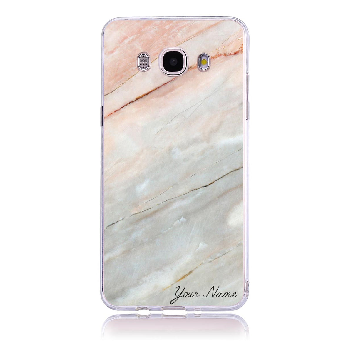 Pink Marble Name-Samsung J5  Customised Case