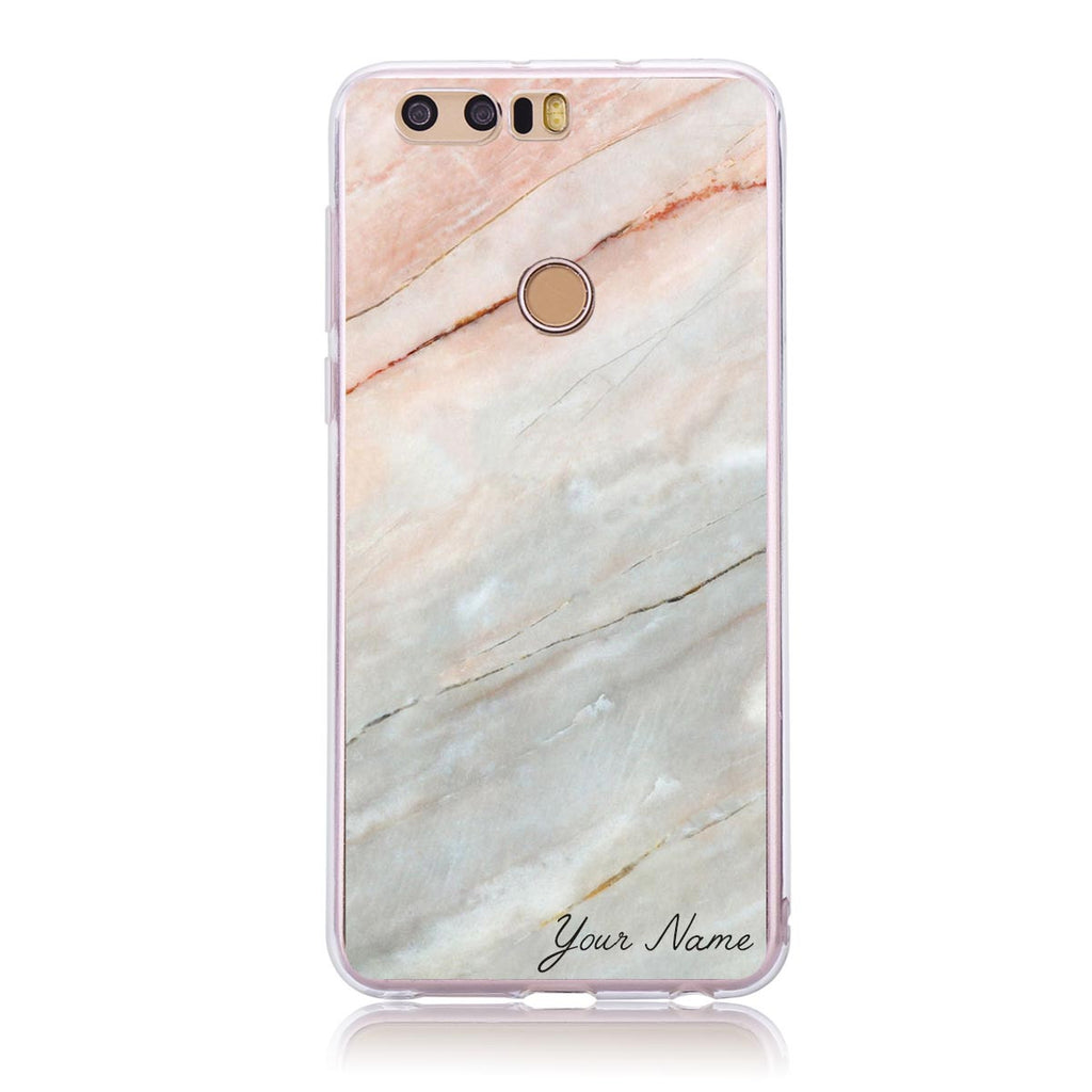 Pink Marble Cut-  Honor 8 Customised Case