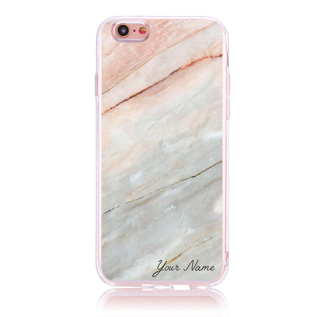 Pink Marble Name- iPhone 6/6s Customised Case