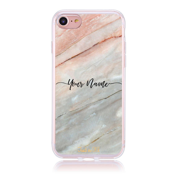 Pink Marble Curvy Initials