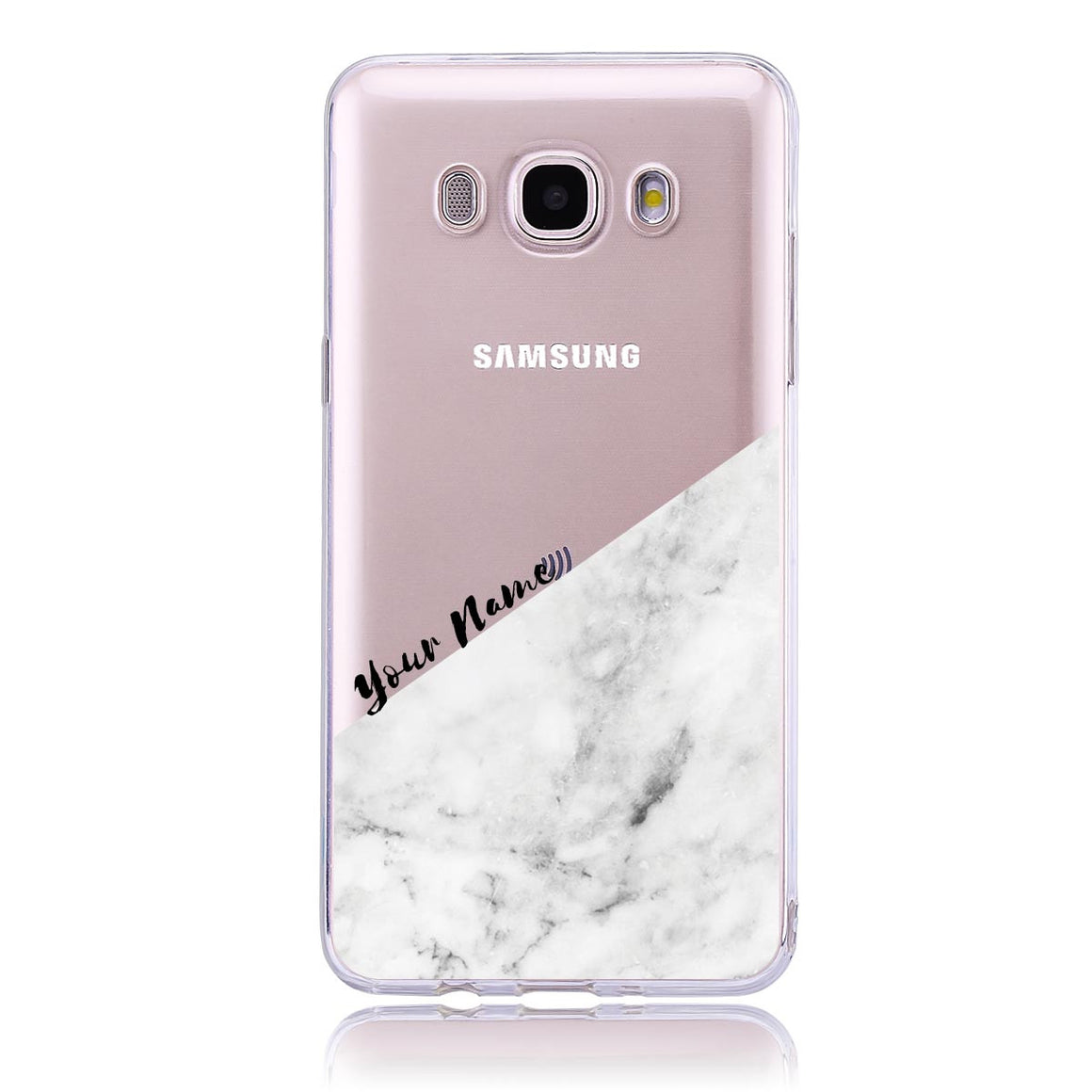 White Marble Cut -Samsung J5 Customised Case