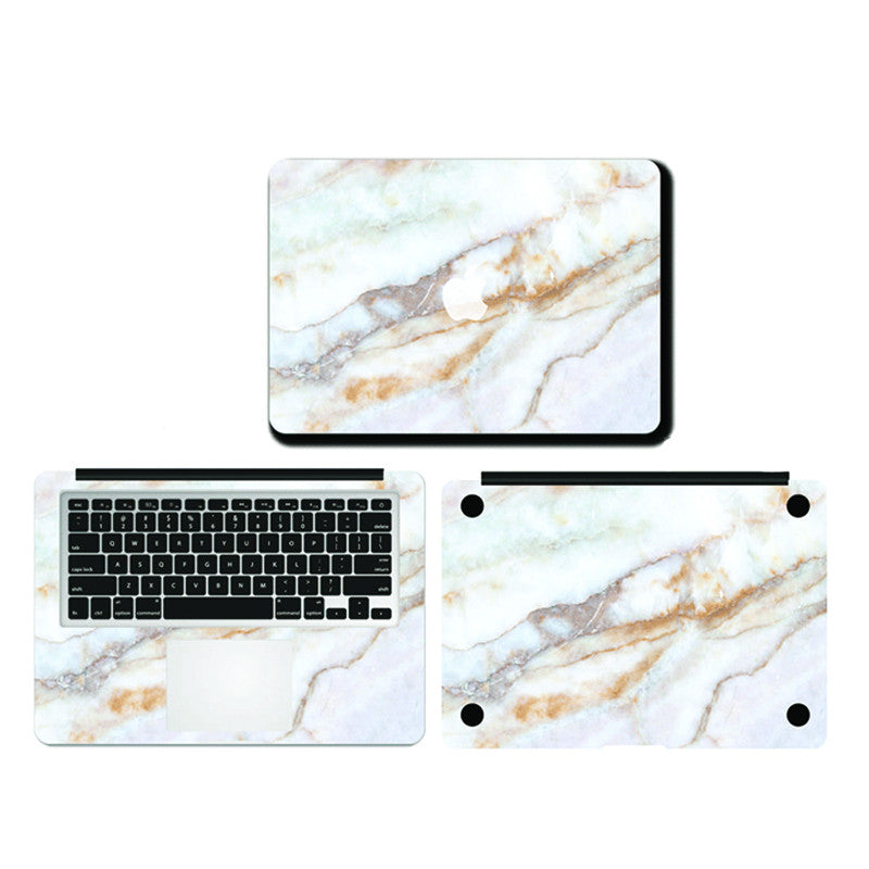 Macbook - Yellow & White Marble