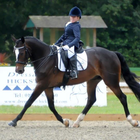 Para Dressager rider Natalie Povey sponsored by Snuggy Hoods Ltd