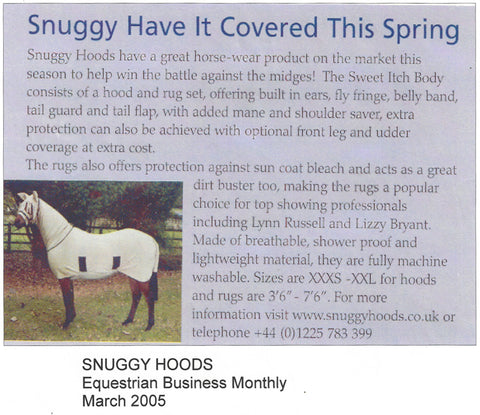 Snuggy Hoods Original Sweet Itch Rug