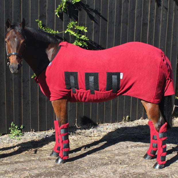 Jams Fleece Horse Stable Rug - Polar fleece under rug/ show rug for additional warmth by Snuggy Hoods