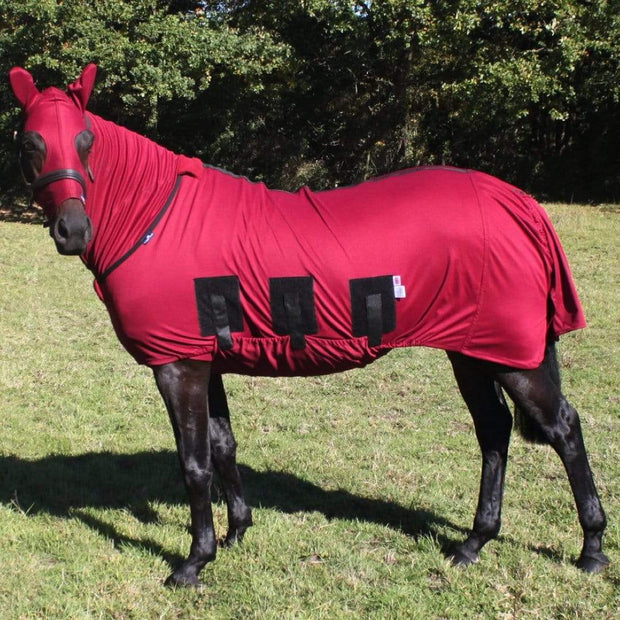 Snuggy Hoods Weatherproof Turn Out Head for Horse or Pony With Zip Burgundy, ML
