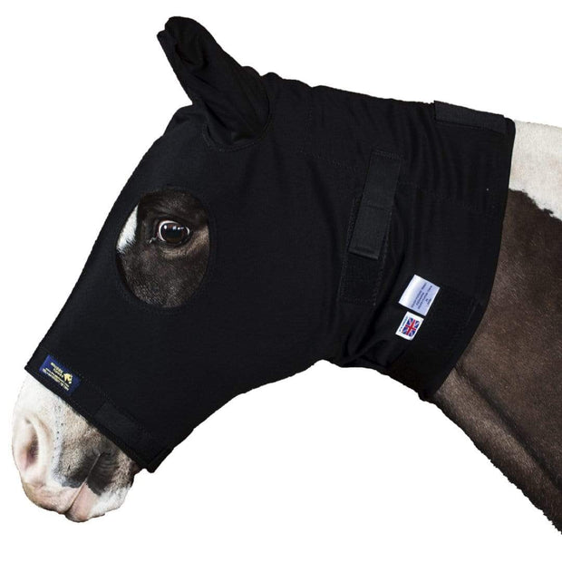 Burgundy, ML Snuggy Hoods Weatherproof Turn Out Head for Horse or Pony With Zip