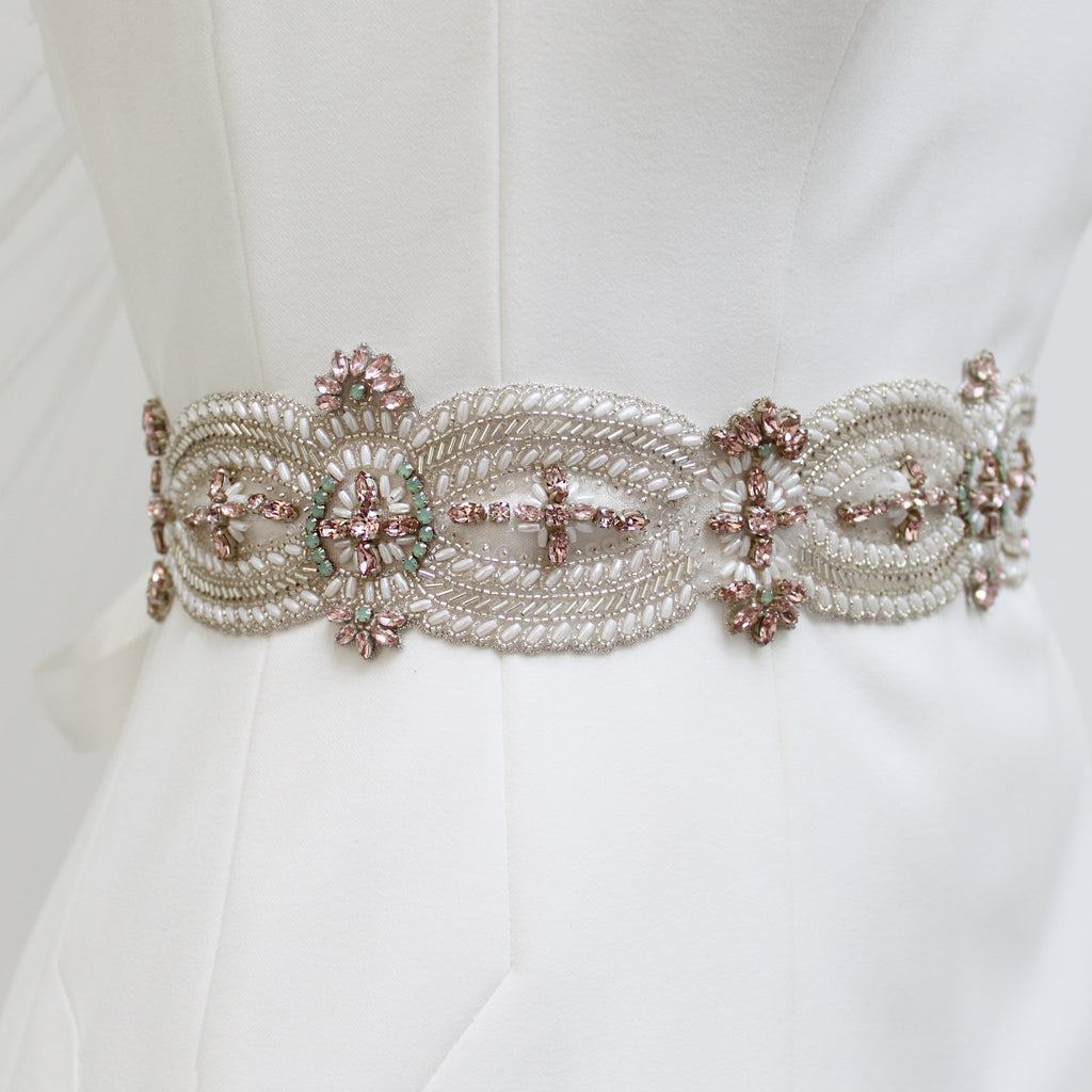 Angelina Bridal Belt Created By Emmy London Hand Beaded