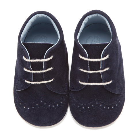 George Navy - Baby Boy Shoes - Navy Soft Kid Suede