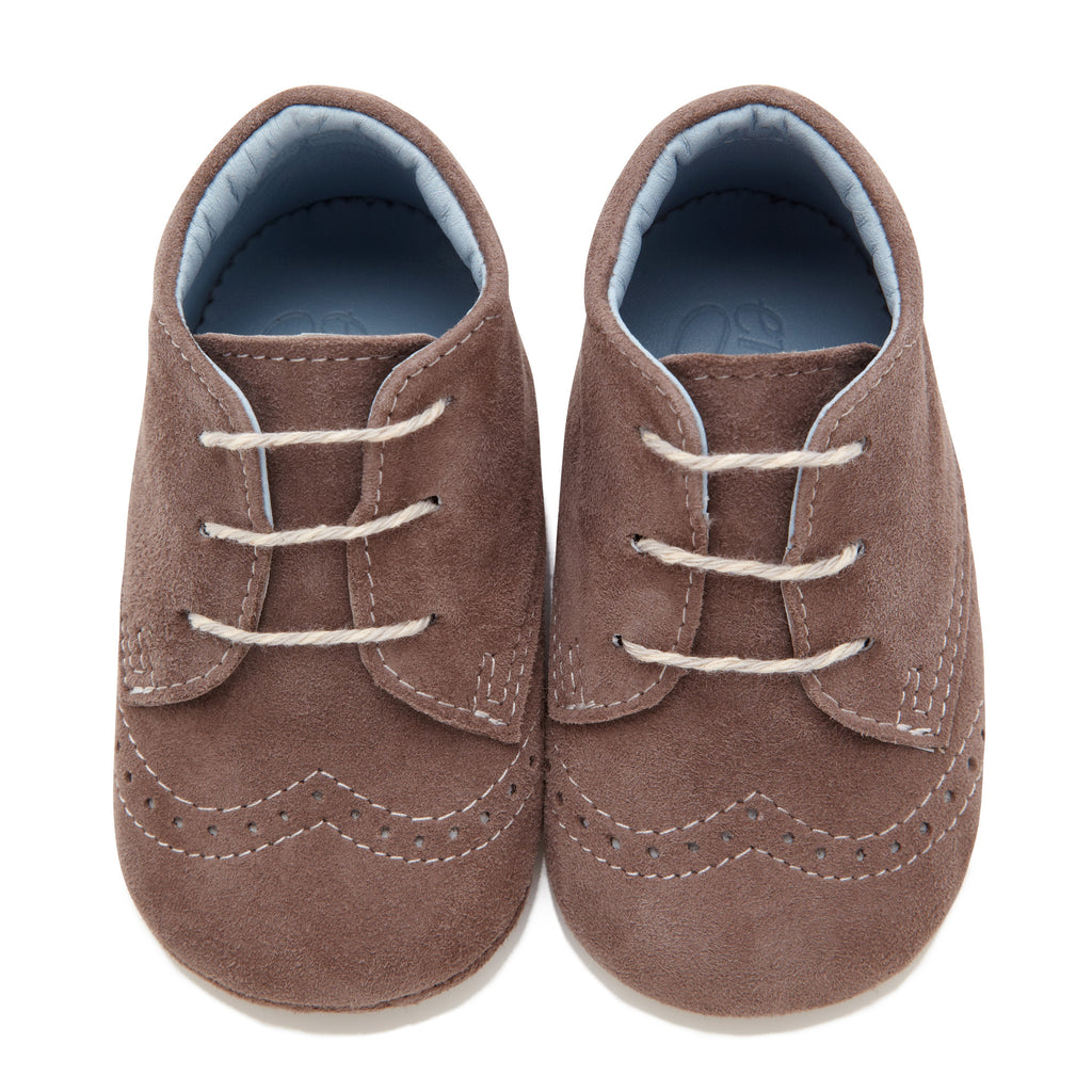 George Chocolate - Baby Boy Shoes - Chocolate Brown Soft Kid Suede