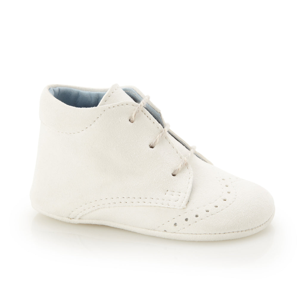 George Ivory - Baby Boy Shoes - Ivory Soft Kid Suede