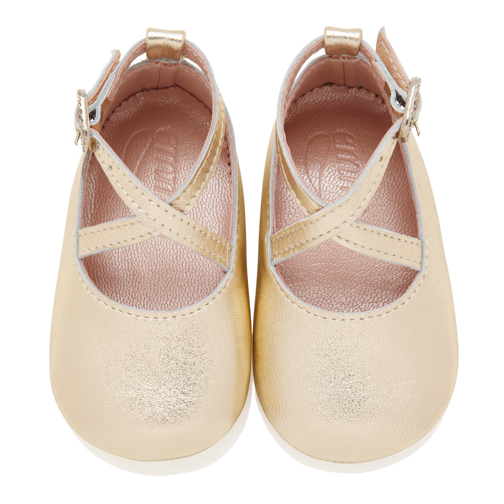 Mimi Gold - Baby Girl Shoes - Gold Leather