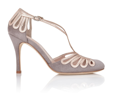 Chloe Cinder Occasion Closed Toe Sandals in Grey Emmy London