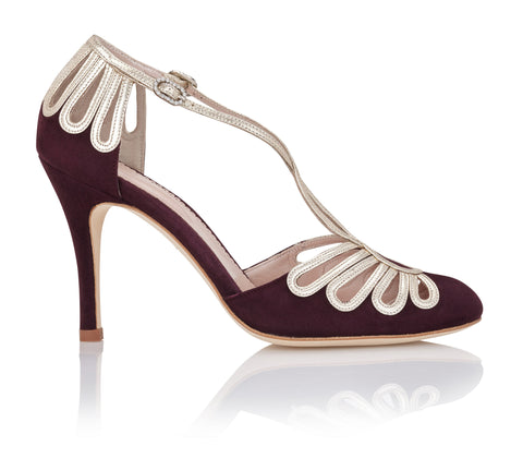 Chloe Claret Emmy London Event Shoe Claret Red Burgundy Sandal with Close Toe