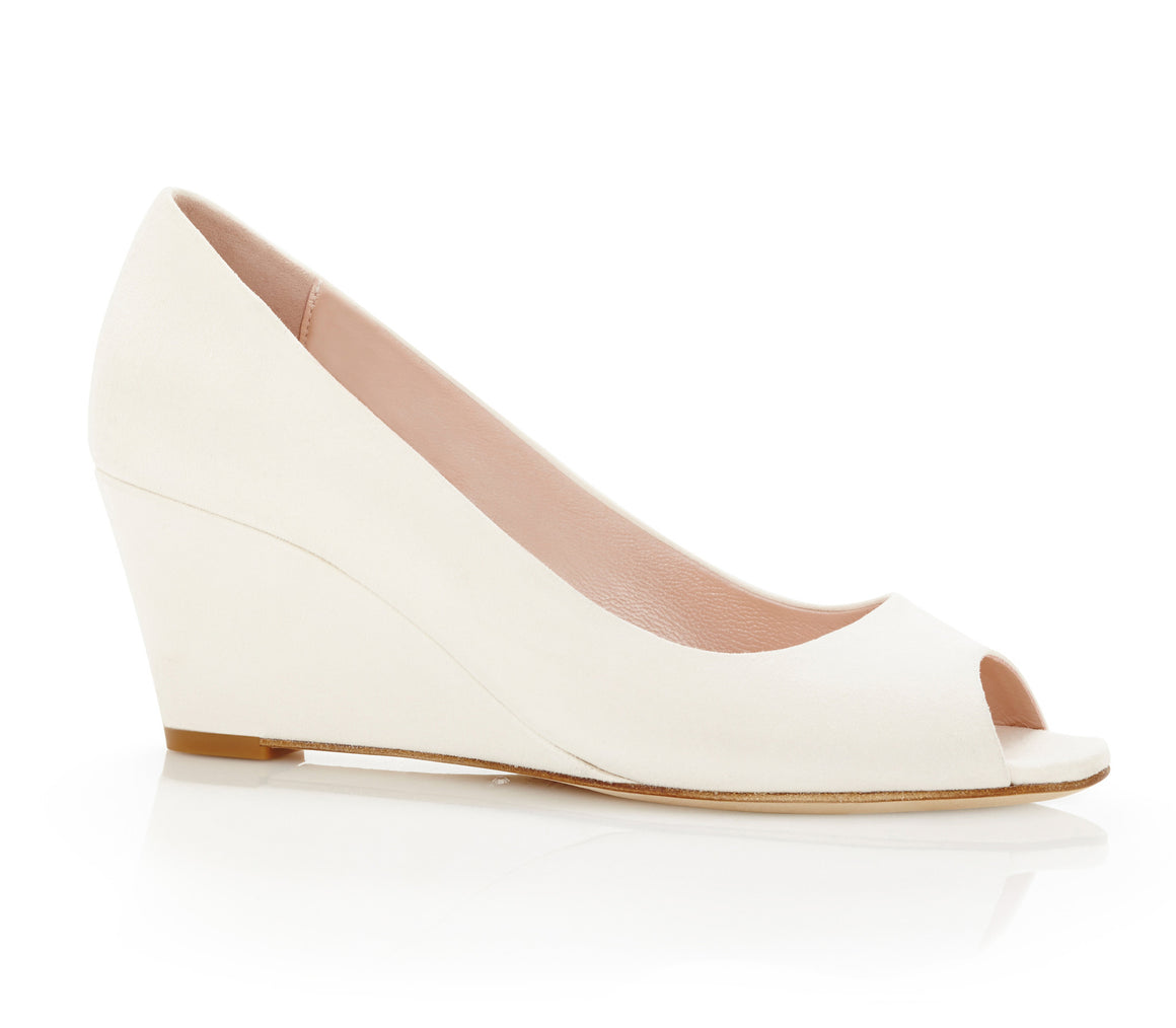 Lucy_Wedge_Bridal_Shoe_Ivory_Suede_Peep_Toe