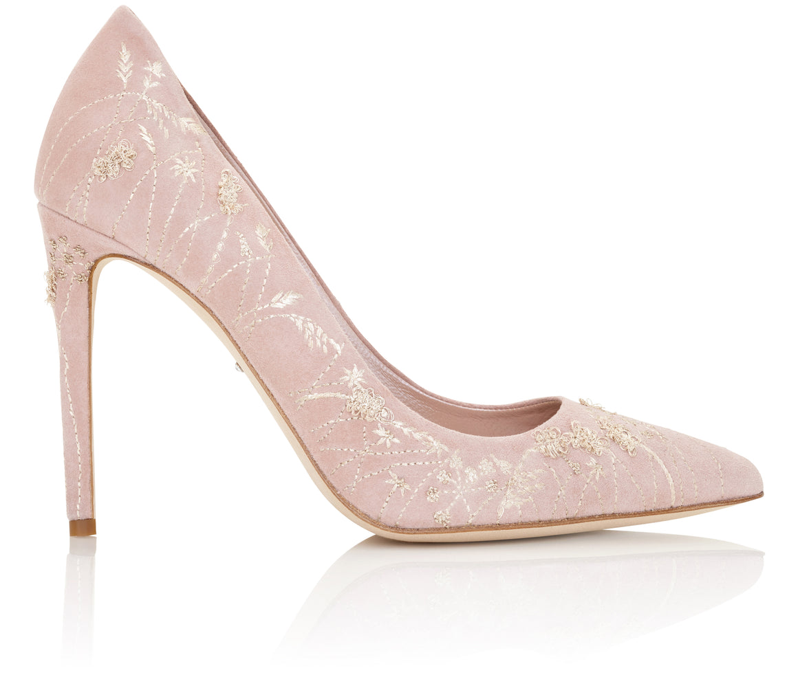 Meadow Dreaming Emmy London Bridal Shoe Collection Rose Pink Court Shoe