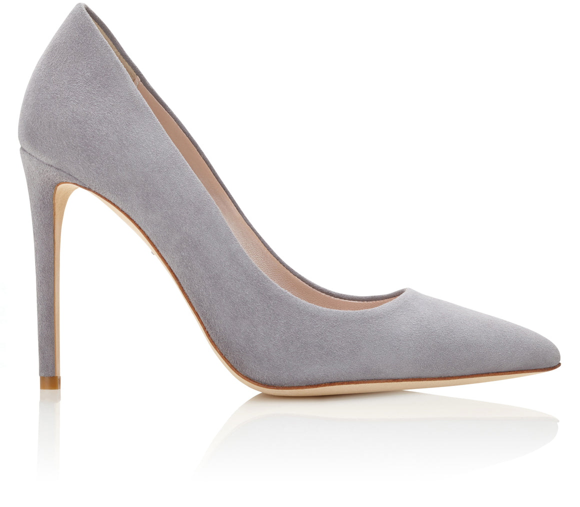 Rebecca Steel Grey Suede Court Shoes Created by Emmy London