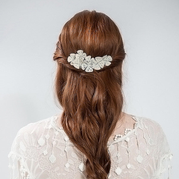 Ivory Secret Garden Pins - Bridal Hair Accessories - Hair Pins - Crystals and Ivory Sequins