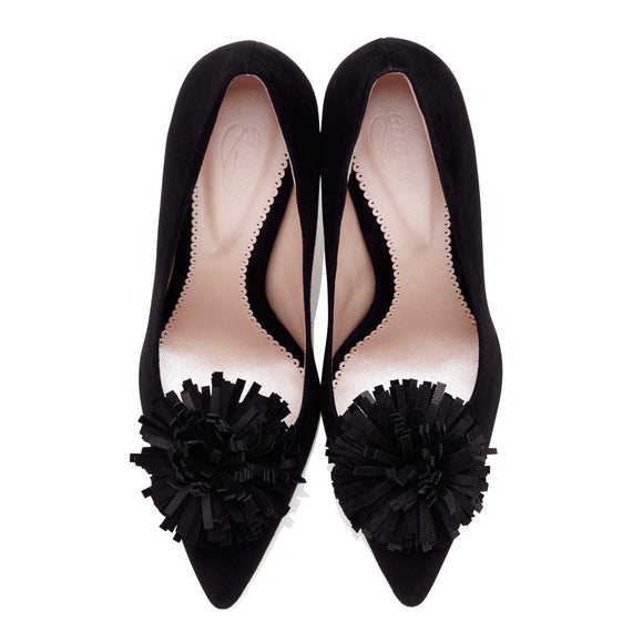 Buy Suzannah Black Mid Heel Occasion Court Shoe | Emmy London