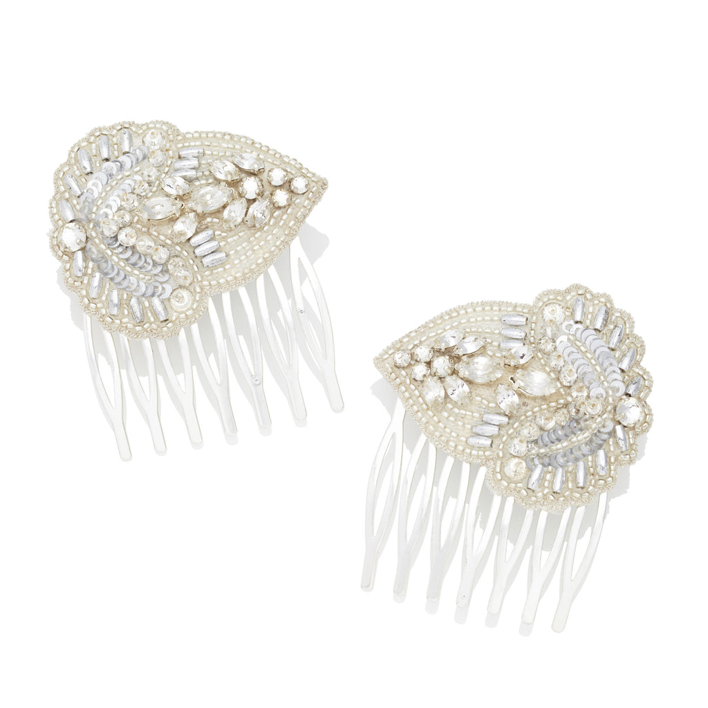 Aurelia Leaf Bridal Hair Combs For Wedding Hair Emmy London