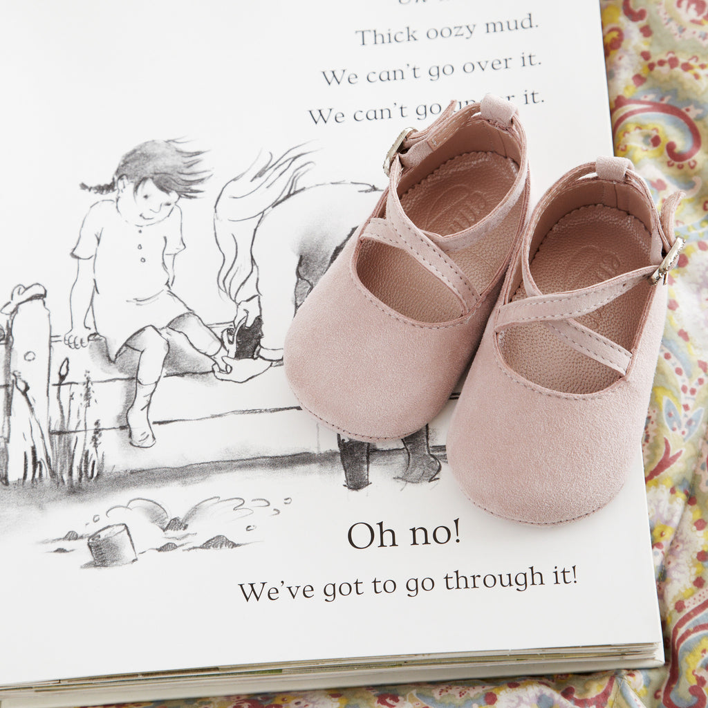 Mimi Rose Pink - Baby Girl Shoes - Rose Soft Kid Suede