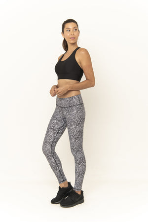 SARA 7/8  LEGGING - BLACK GALAXY