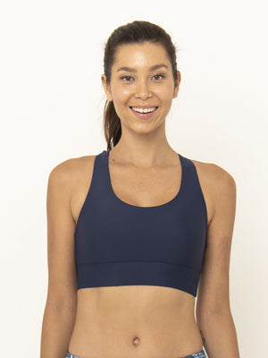 ROXY CROSS BACK BRA - NAVY