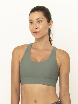 ROXY CROSS BACK BRA - MOSS