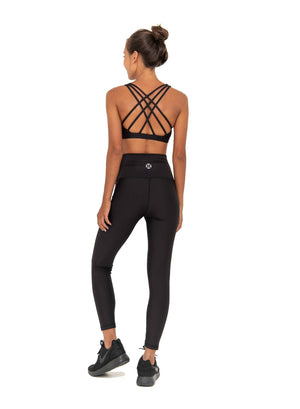 AMELIA CROSS BRALETTE - BLACK