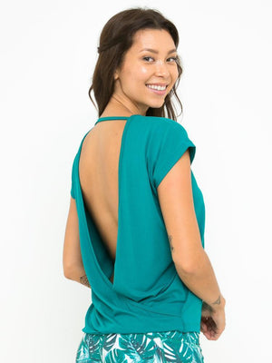 BIANCA CROSS BACK TOP // JADE