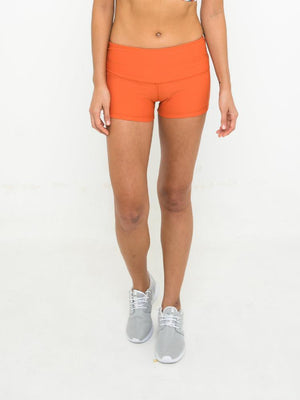 ELLA POWER SHORT // SPICY ORANGE
