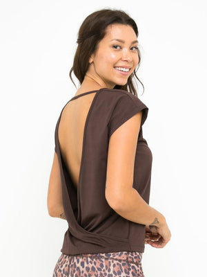 BIANCA CROSS BACK TOP // CHOCOLATE