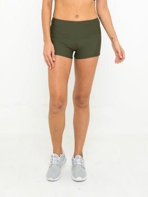 ELLA POWER SHORT // OLIVE