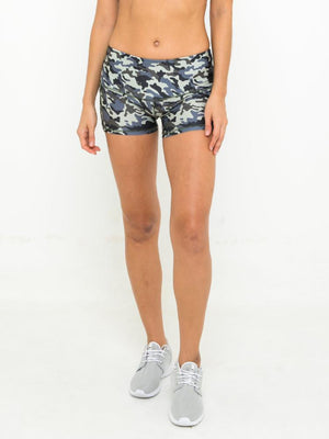 ELLA POWER SHORT // CAMO