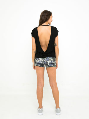 BIANCA CROSS BACK TOP // BLACK