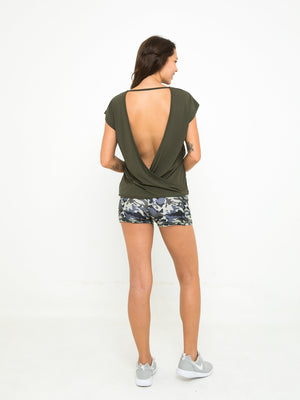 BIANCA CROSS BACK TOP // OLIVE