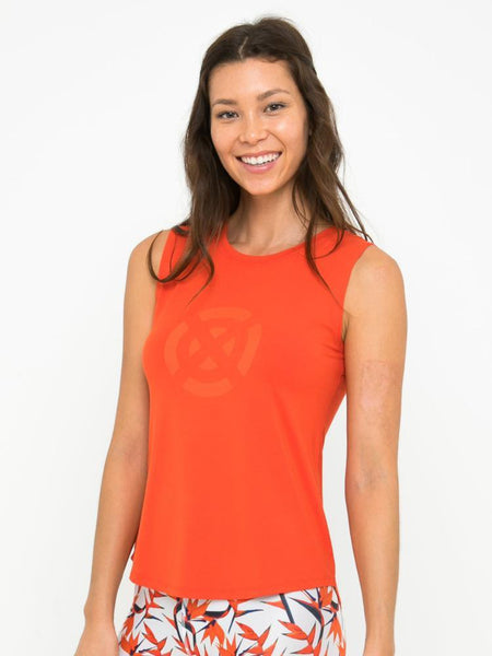 ALICE MUSCLE TANK // SPICY ORANGE