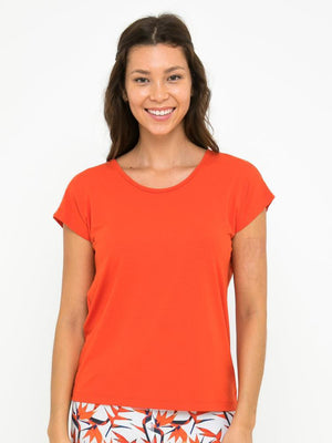BIANCA CROSS BACK TOP // SPICY ORANGE