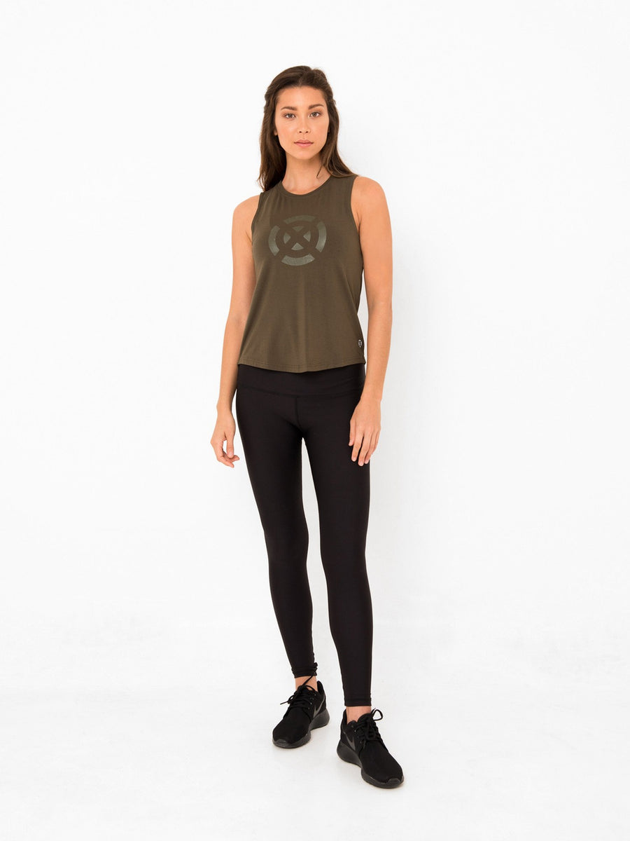 ALICE MUSCLE TANK // OLIVE