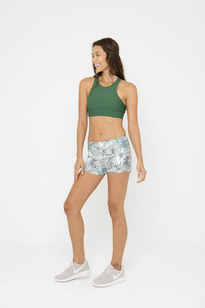 ELLA POWER SHORT // PALM LEAVES