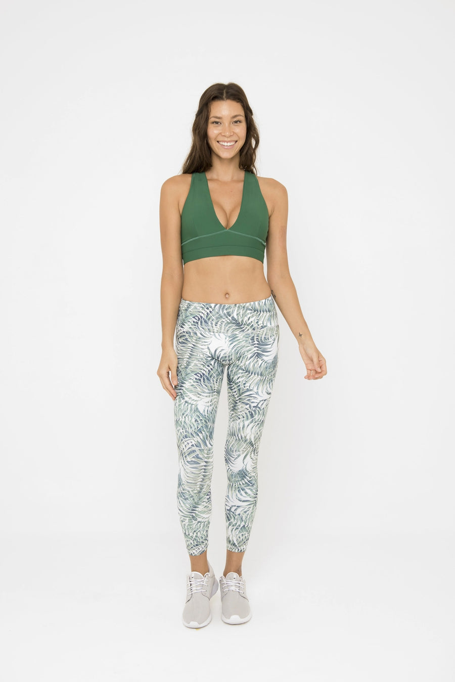 SARA 7/8 LEGGING // PALM LEAVES
