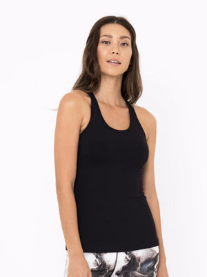 HOLLY RACER TANK // BLACK