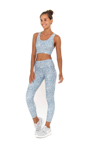 SARA 7/8  LEGGING - BLUE DOTS