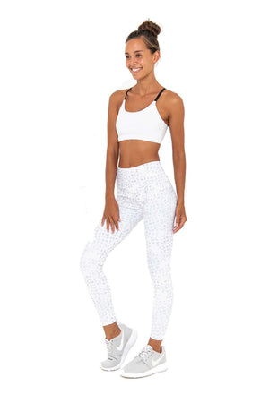 NAOMI HIGH WAIST 7/8  LEGGING - OYSTER MONOCHROME