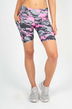 GIGI IPHONE SHORT - NEON PINK CAMO