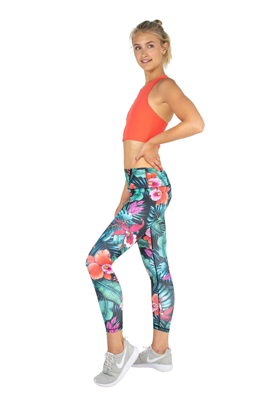 SARA 7/8 LEGGING - MIDNIGHT JUNGLE
