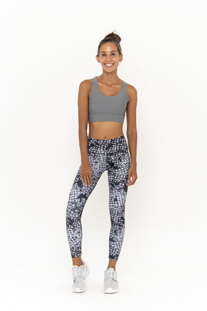 SARA 7/8  LEGGING - CARBON MONOCHROME