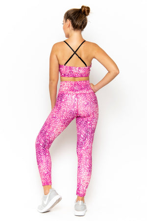 NAOMI HIGH WAIST LEGGING - BLEACH SPLATTER