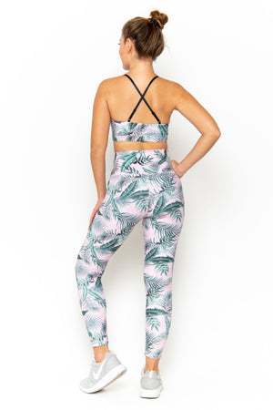 NAOMI HIGH WAIST LEGGING - PINK PALM