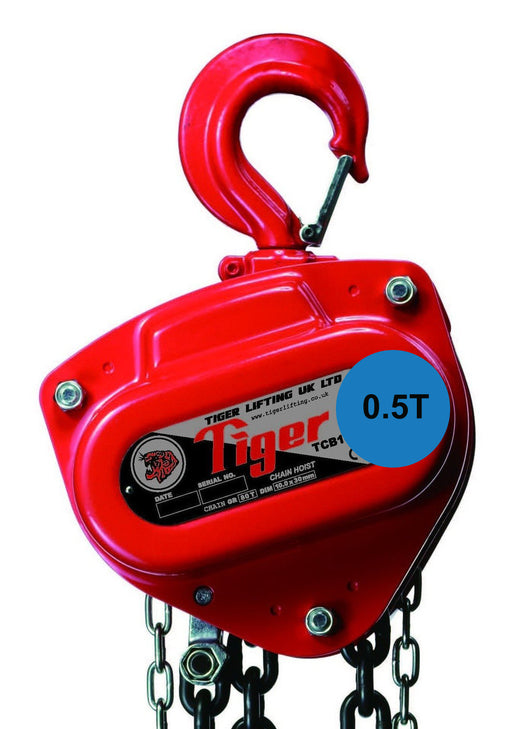 TIGER CHAIN BLOCK  PROCB14, 0.5t CAPACITY Ref: 211-1 available from RiggingUK next working day deliveryUK